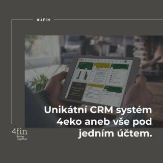 Naším unikátním ekosystémem pro práci našich konzultantů s klienty je systém 4eko. Abychom zde přiblížili to, co denně usnadňuje a zkvalitňuje práci našich lidí, představujeme jeho moduly. . 1. Individuálně nastavitelný dashboard – hlavní obrazovka naplněná widgety, které si upravujete podle toho, co chcete vidět ve vašem systému jako první. Ať jsou to zprávy, smlouvy nebo třeba hodnota svého klientského kmene. 2. Responzivita systému - systém je pohodlně navrhnut tak, aby každý z konzultantů mohl plně vykonávat práci v terénu, a tudíž se ke svému 4eko měl možnost připojit kdekoliv ze všech zařízení ať z mobilu, tabletu nebo počítače. 3. Detaily jednotlivých widgetů si samozřejmě může každý rozkliknout do nejmenšího detailu. 4. Boční panel je praktický pomocník při práci s klienty nebo smlouvami, který rozkliknete kdykoli, když budete chtít znát všechny detaily. 5. Přidávání smluv – jednoduché a praktické. Přidávat můžete aktivní i neaktivní smlouvy, které se zároveň přenesou do servisního prostředí 4plan. 6. Úkolovník - intuitivní úkolníček, který můžete sdílet například s asistentkou. Do úkolovníku si můžete přidávat také podúkoly, a tak řídit vše z jednoho místa a přehledně. 7. Klientská kartotéka, kterou ve 4eko nazýváme Detail klienta. Najdete zde všechny informace o klientovi na jednom místě. 8. Hodnota kmene – unikátní vlastností systému je, že dokáže sledovat aktuální hodnotu vašeho kmene. 4fin vám jako jediná společnost na trhu garantuje, že v případě, že budete chtít svůj kmen prodat, tak jej od vás odkoupí. . 4eko je propracovaný a denně zlepšovaný systém, který budujeme k dokonalosti. 👇🏻 Přidáte se k nám i vy? Jsme #4fin #BetterTogether #4eko #system #finance