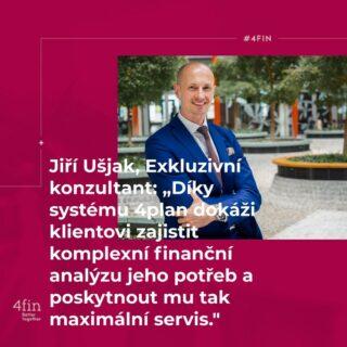 Maximální servis je to, na čem si náš Exkluzivní konzultant Jiří Ušjak zakládá. V tom mu pomáhá systém 4plan, díky kterému posytne 100% finanční analýzu založenou na potřebách svého klienta. #4finPeople #4fin #BetterTogether #people #team #finance #financialfreedom