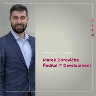 """Inovace jsou jednou z hodnot 4fin a IT je právě odvětví, ke kterému se tato hodnota nejvíce hodí. Ředitel IT Development Marek Borovička vede tým, který na inovacích v IT pracuje dnes a denně . """"Uvědomujeme si, jak jsou IT nástroje pro trh finančního a majetkového poradenství zásadní, a proto jim ve 4fin věnujeme maximální pozornost,"""